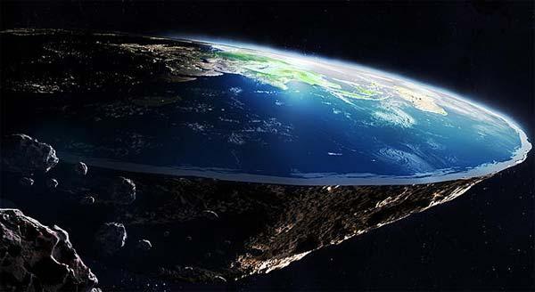 La terre plate vue par un platiste